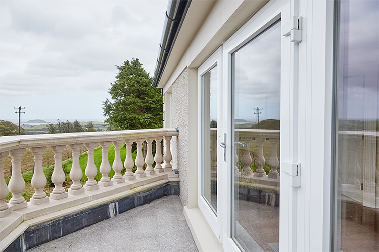 French Doors That Allow A Sea View From Observatory