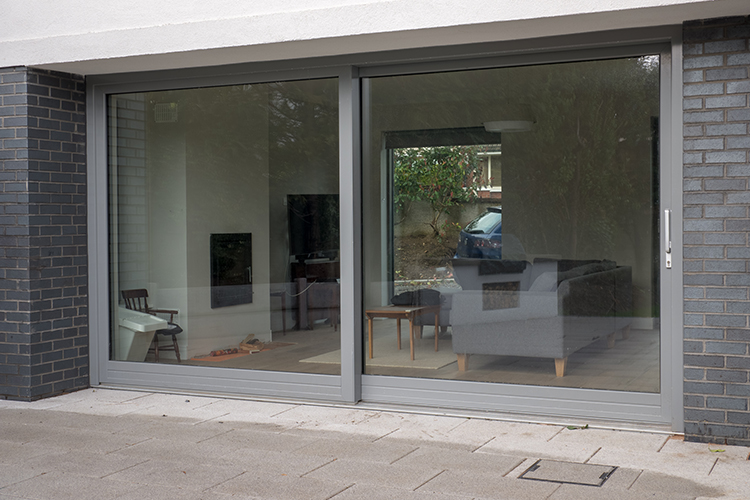 contemporary windows glass panel outside sliding