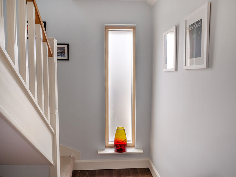 Narrow Fixed Window With Obscure Glazing