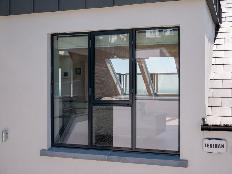inside fixed and casement aluclad window