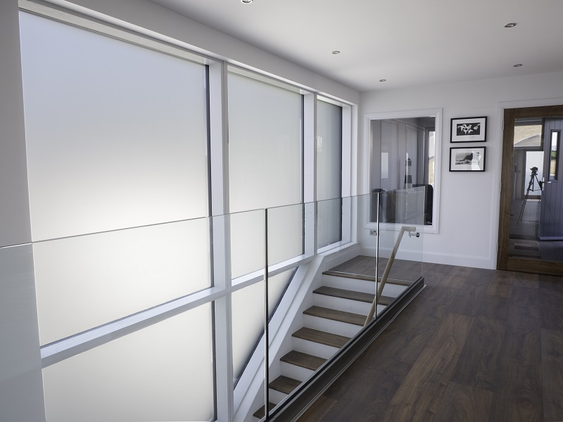 glass panes stairs
