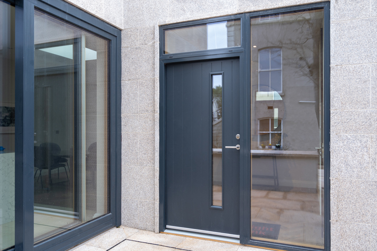 Anthracite Grey Aluminium Clad Wood Entrance Door