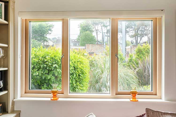 Two Operating Casement Windows With Fixed Center