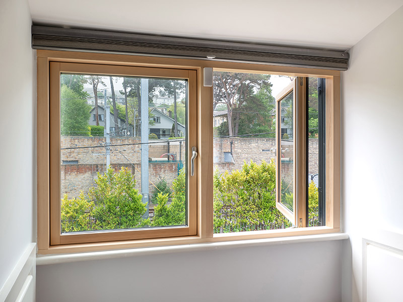 French Aluclad Wood Casement Windows Interior